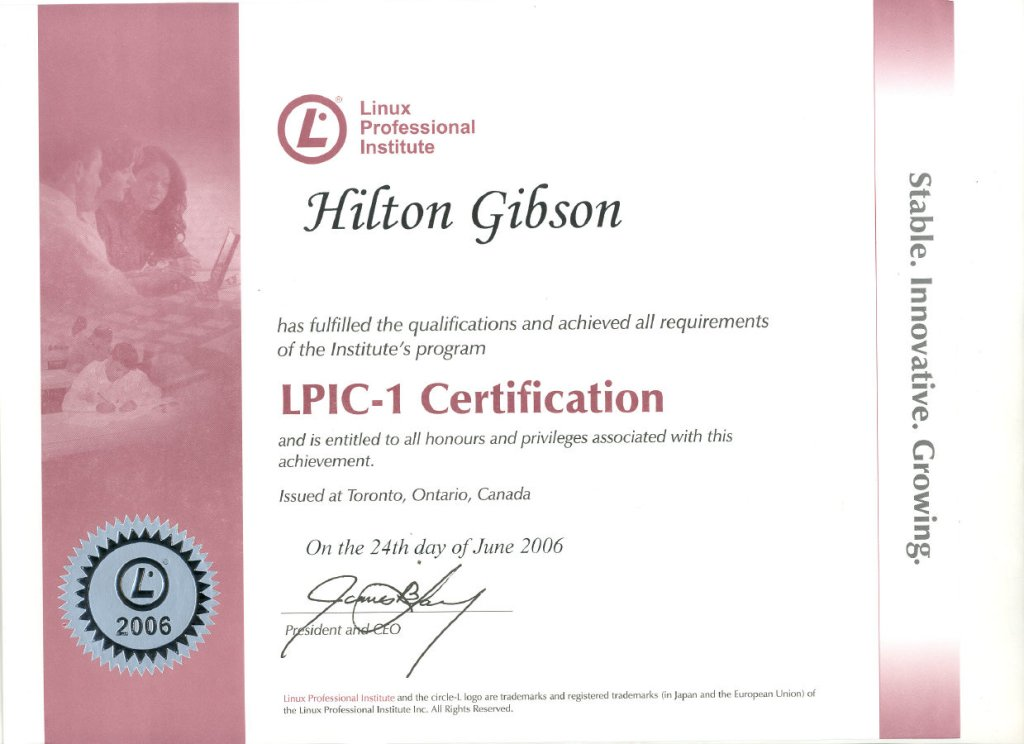 Linux Certified Professional